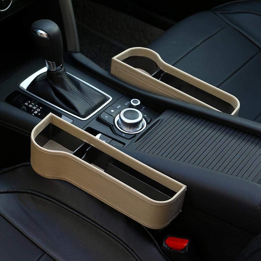 Rainmood Autositz Tasche Schlitz Tasche Gap Catcher Aufbewahrungsbox Ablagefach mit PU Leder Kleinteile gutes autozubeh/ör Geeignet f/ür die meisten Autos Popular