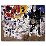 Jean-Michel Basquiat Original Graffiti Art Net Weight 1981 Canvas Paintings Hand Painted Reproduction Unframed Tablet - 48X40 inch (122X102 cm) for Living Room Wall Decor To DIY Frame