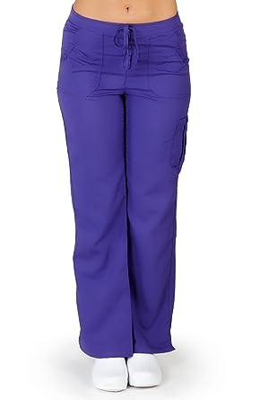 681b74dba98 Ultra Soft Brand Scrubs - Premium Womens Junior Fit Cargo Pocket Scrub Pant,  Purple 38137