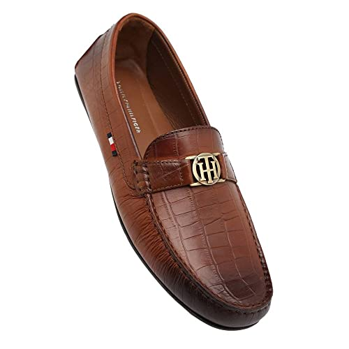 cfc2b44ed7b Tommy Hilfiger Men s Tan Leather Loafers and Moccasins - 10.5 UK India (45  EU)  Buy Online at Low Prices in India - Amazon.in