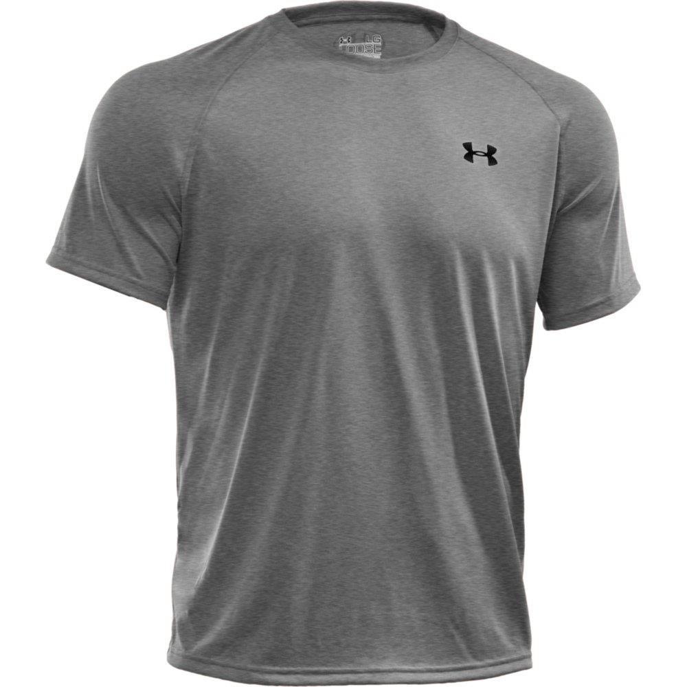 Under Armour Men's Tech Short Sleeve T-Shirt, True Gray Heather /Black, XXXXX-Large by Under Armour (Image #5)