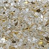 1/2'' Casino Gold Metallic / Gold Reflective Fireglass 10 Pound Bag
