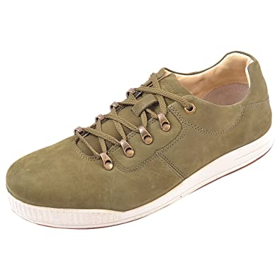 Woodland Mens Casual Wear Leather Shoes Size 9 UK GC1221112W13 OLIVE GREEN