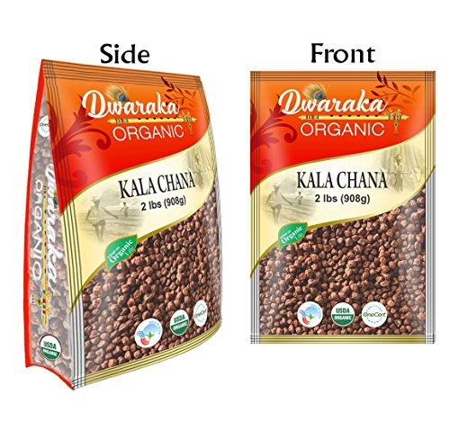 Dwaraka Organic Bengal Gram Whole Kaala Chana Lentil USDA Organic (2 lbs/908 g) by Dwaraka Organic