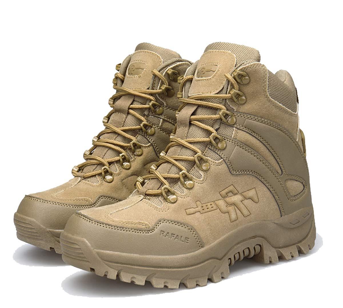 Adong Männer Camouflage Bergsteigen Stiefel High Rise Wanderstiefel Jungle Trekking Schuhe Wüstenstiefel,A,42EU