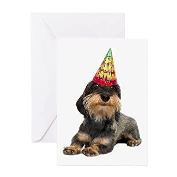 Amazon Com Cafepress Wirehaired Dachshund Birthday Card