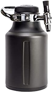 GrowlerWerks uKeg Go Carbonated Growler and Craft Beverage Dispenser for Beer, Soda, Cider, Kombucha and Cocktails, 64oz, Tungsten