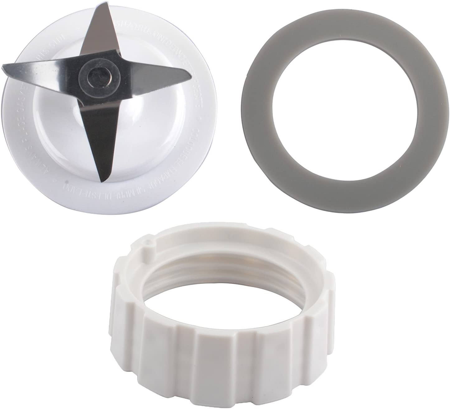 Blade for Hamilton Beach Blender Replacement Mixer Parts with Screw Cap and Rubber Gasket by Wadoy