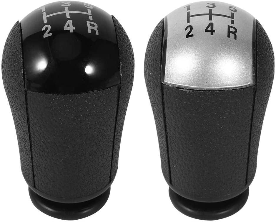 5 Speed MT Gear Stick Shift Knob,Akozon MK3 S-MAX New Gear Stick Shift Knob with High Compatibility Elegant design for Ford Focus Mondeo MK3 S-MAX New Black
