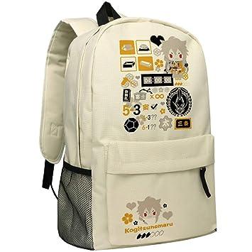 Cosstars Touken Ranbu Online Anime Mochilas de a Diario Backpack Bolso de Escuela Beige: Amazon.es: Equipaje