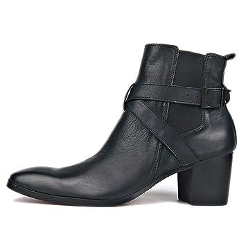 : SHANHEYY Men's Cuban Heel Cowboy Boots, Ankle