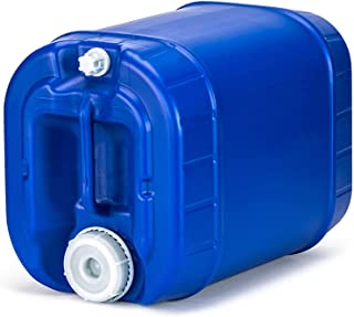 product image for Emergency Water Storage 5 Gallon Water Tank - BPA-Free, Food Grade, Portable, Stackable, Easy Fill - Survival Supply Water Container