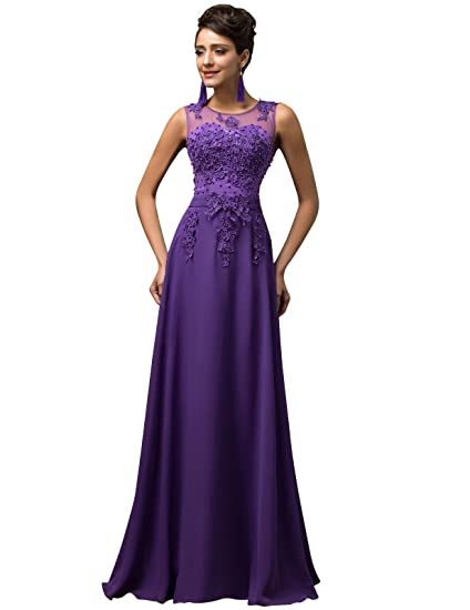 latest trends good out x free delivery GRACE KARIN Women Evening Ball Gowns Dress Long A-line Chiffon Wedding  Bridesmaid Dress UK Size 6~26W