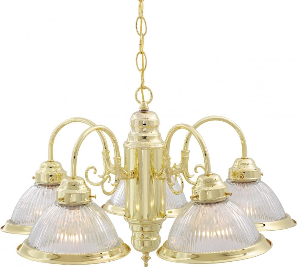 Nuvo Lighting SF76/281 Five Light Chandelier Brass-Polished/Cast