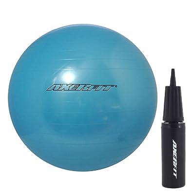 Ballon de gymnastique Bleu Ballon de gymnastique 65cm + Pompe à air axer