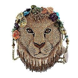 Beaded Lion Handbag