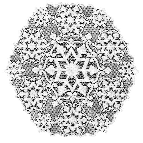 Heritage Lace Glisten 18-Inch Round White Doily, Set of