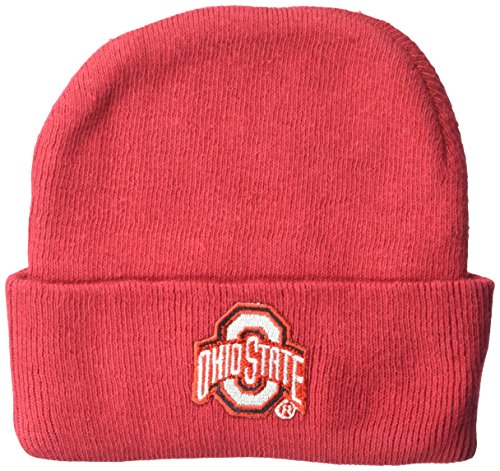 Two Feet Ahead NCAA Ohio State Buckeyes Infant Knit Cap, New Born, Red