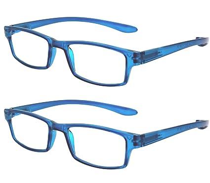 5648c5e59b TBOC Gafas de Lectura Presbicia Vista Cansada - (Pack 2 Unidades) Graduadas  +2.00