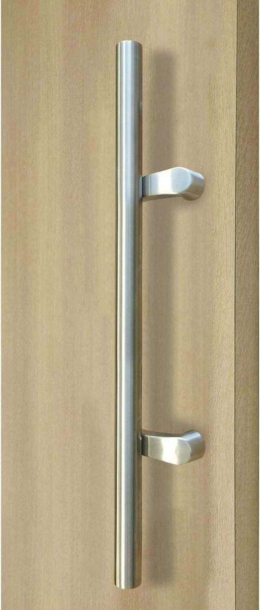 Strongar Postmount Offset Ladder Style H Shape 1372mm 54 Inches Push Pull Stainless Steel Door Handle Brushed Satin Finish Amazon Com