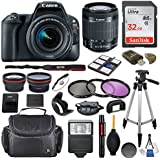 Canon EOS Rebel SL2 DSLR Camera with EF-S 18-55mm f/4-5.6 IS STM Lens & SanDisk Ultra 32GB Class 10 Memory Card + Accessory Bundle