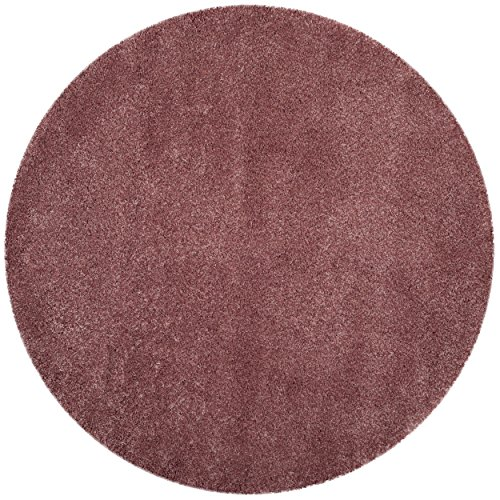 Safavieh California Shag Collection SG151-3737 Rose Round Area Rug (6'7