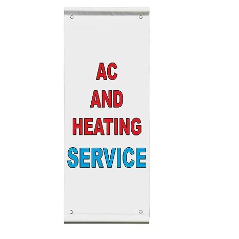 Ac Repair /& Service Blue Red Auto Car Repair Shop Vinyl Banner Sign //W Grommets