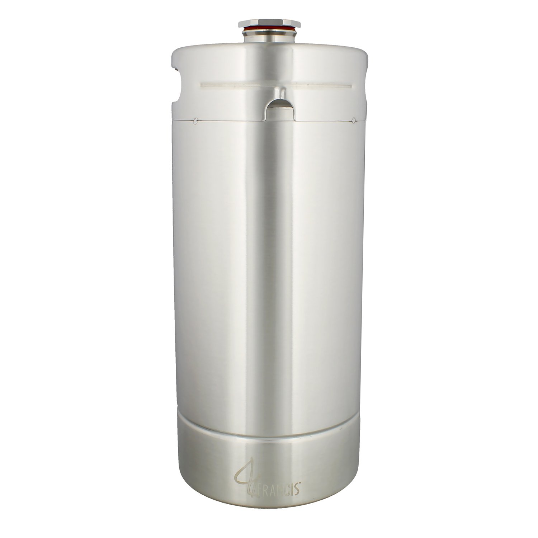 128 Ounce Stainless Steel Mini Keg Growler - Wine Keg Draft Beer Growlers for Beer, Water, Soda, Wine, Coffee