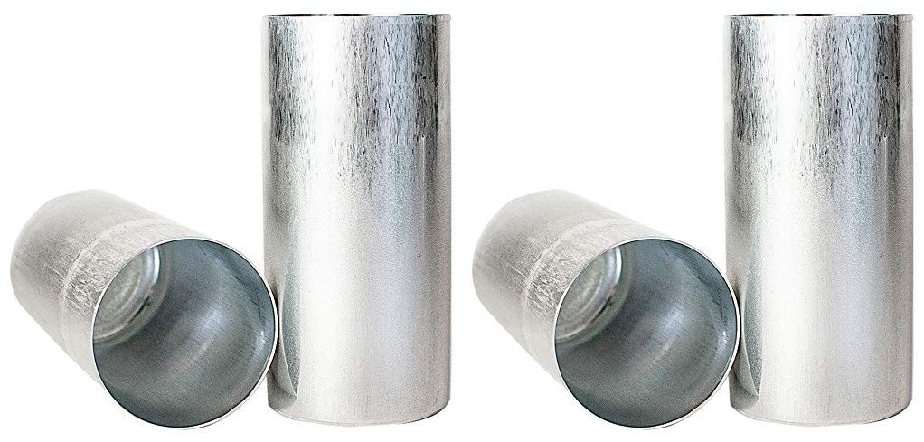 Candlewic 50216 2Pk of 3 X 6.5 Inch Round Aluminum One Piece Candle Molds (Тwо Расk)