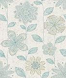 A-Street Prints 1014-001814 Maisie Batik Flower Wallpaper, Teal