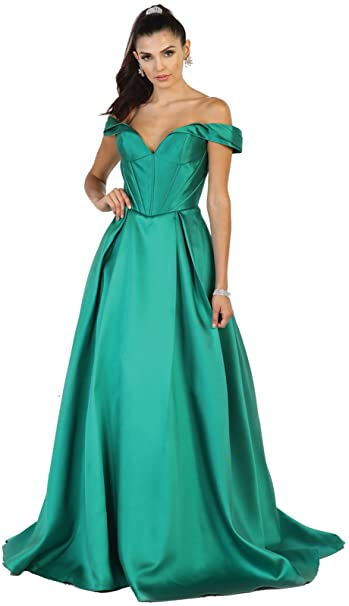 Royal Queen RQ7508 Beauty Pageant Off The Shoulder Evening Gown ...