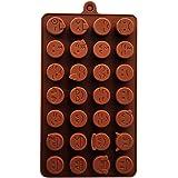 28-cavity Emoji Mold Silicone Emotion Cake Chocolate Fondant Mold DIY Baking Decorating Mold