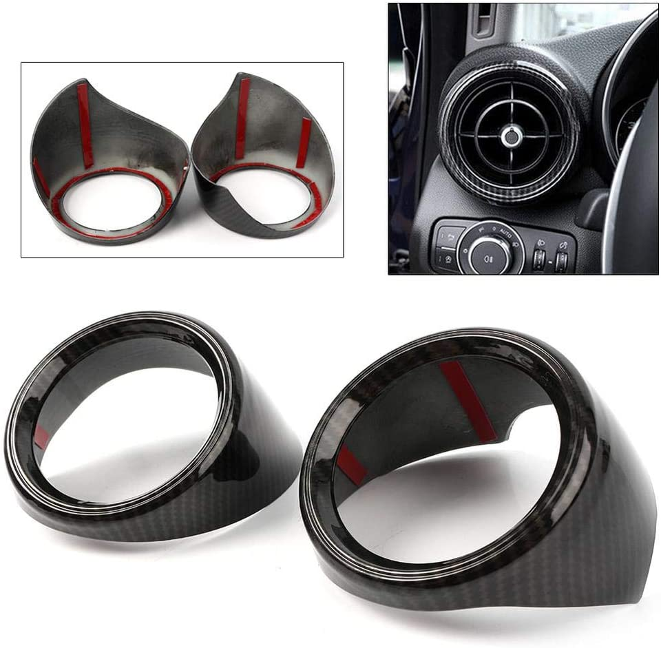 GZYF 2Pcs Carbon Fiber Auto Air Vent Frame Replacement Compatible with Alfa Romeo Giulia 2017-2018