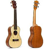 Kmise 60,96 cm en la parte superior de abeto sólido de profesionales de la guitarra ukelele concierto de Hawaii UK-24A