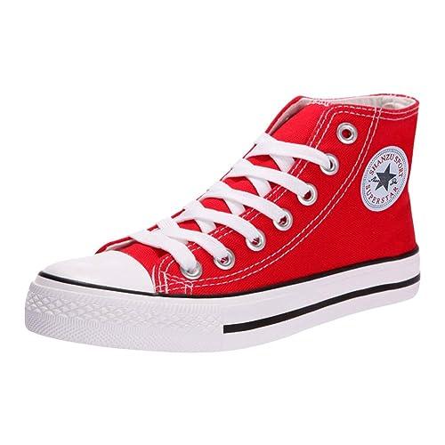 Padgene - Zapatillas de Deporte Mujer Zapatillas Canvas de Lona Unisex de Mujer o Hombre Estilo Casual y Deportivo: Amazon.es: Zapatos y complementos