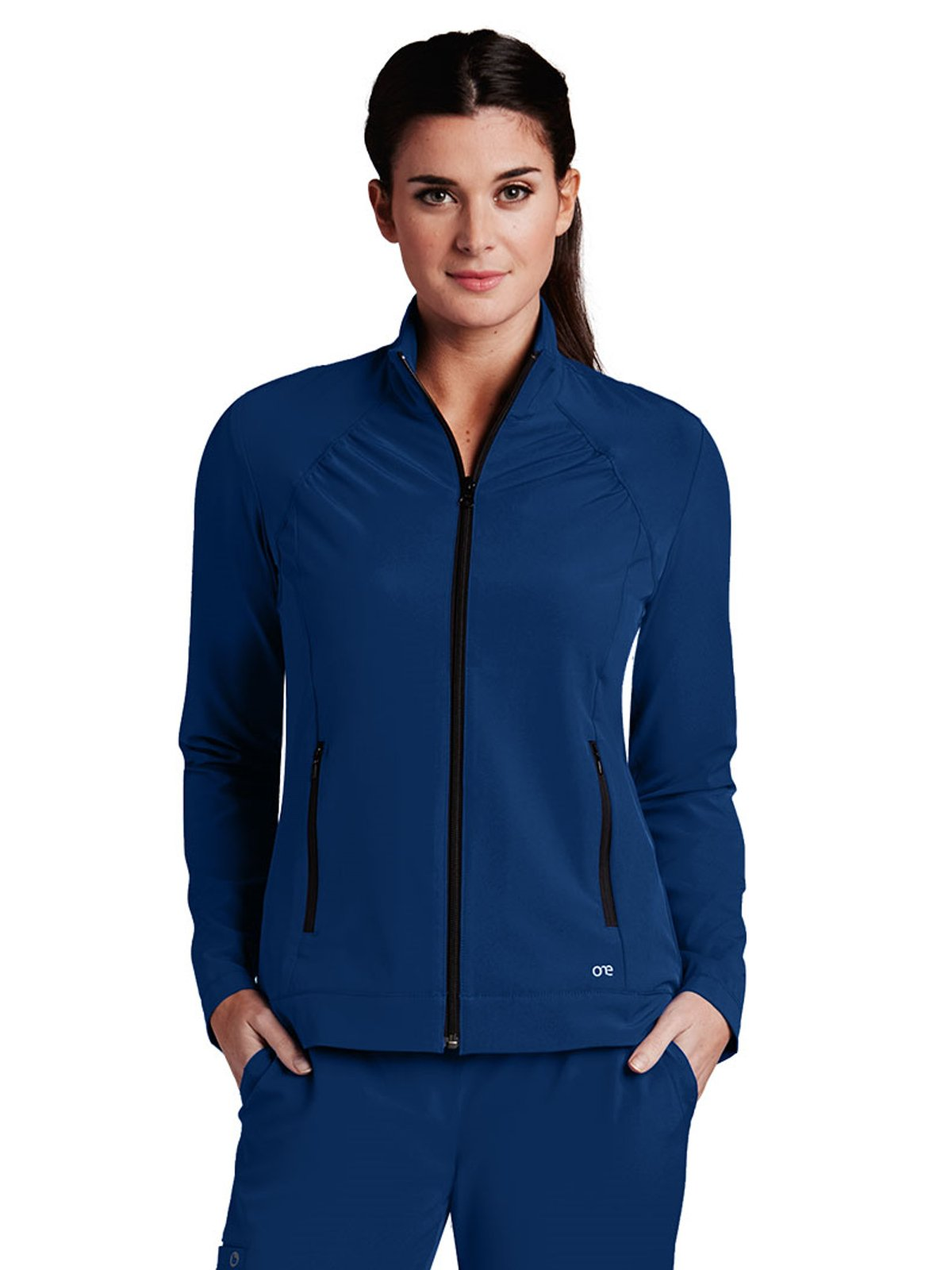 Barco One 5405 Zipper Front Jacket Indigo M