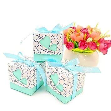 JZK 50 x favores cajas para la boda cumpleaños fiesta de bienvenida al bebé sagrada comunión fiesta de graduación navidad o varias ocasiones, caja ...