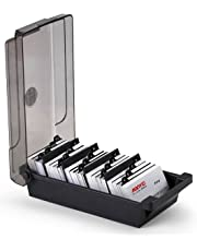 Scrivania Bussiness nome della scatola organizzatore supporto con divisori e divisori per 500carte, colore: Nero Nero