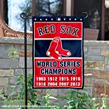 Boston Red Sox 8-Time World Series Champions Double Sided Garden Flag