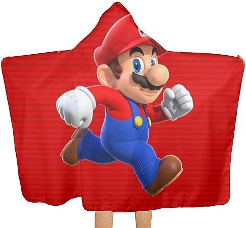 ZHSL Jeu Super Mario serviette de plage /à capuche avec capuche serviettes de bain de plage pour le voyage camping serviettes de piscine sur la plage chariot chaises de plage 51,5 X 32 pouces