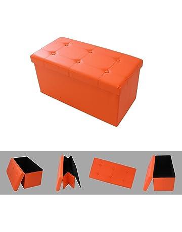 Todeco - Banco Plegable, Otomana De Almacenamiento Plegable - Carga máxima: 150 kg -