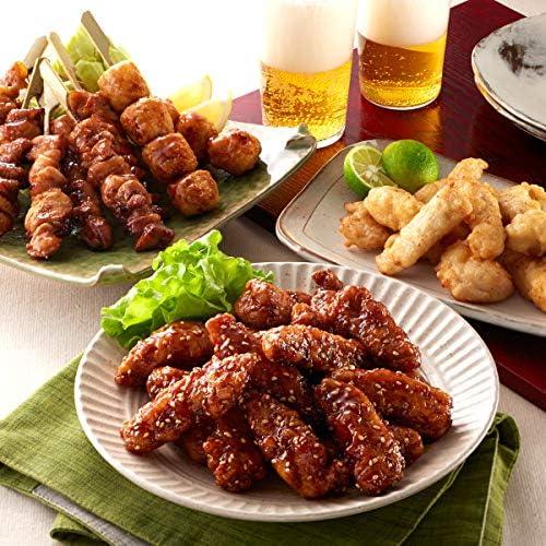 送料無料 華味鳥 鶏三昧お惣菜セット 化粧箱入り とり天 骨なしピリ辛チキン 4種焼き鳥串