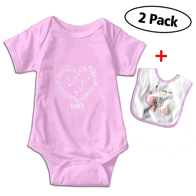 Amazon com: Bennett Libra Zodiac Sign Baby Short-Sleeve Bodysuit