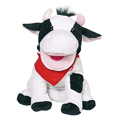Goki Hand Puppet Cow Karry Doll: Toys & Games