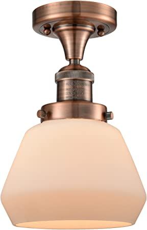 Innovations 201F-BB-G534 1 Light Semi-Flush Mount Brushed Brass