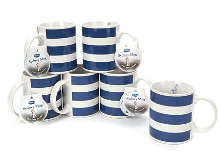 Tetley Tea Folk Sydney Mugs, Set of 6: Amazon.co.uk: Kitchen & Home