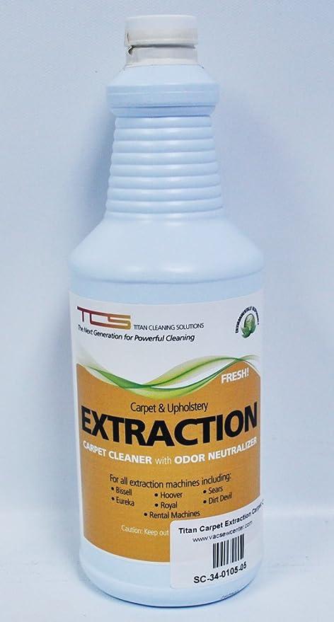 Titan alfombra extracción limpiador de alfombras con neutralizador de olores