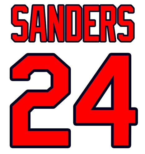 release date fc668 844c5 Deion Sanders Atlanta Braves Jersey Number Kit, Authentic ...