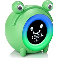 Alarm Clock for Kids, Baby Children's Sleep Training Clock with Wake Up Light, 5-Color Changeable Night Light, 5 Alarm…