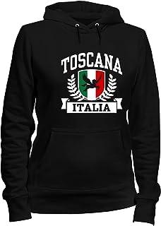 Speed Shirt Felpa Donna Cappuccio Nero TSTEM0211 Toscana Italia
